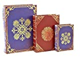 Floral Book Box, Flux books Set of three 13,10, 7 inches