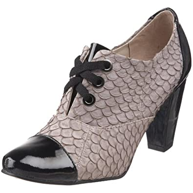 ALL BLACK Women's Fish Tie Patent Toe & Heel Fish Pump