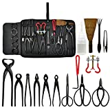 Carbon Steel Equipment Tool Bonsai Tool Kit (14 piece) for Gardening