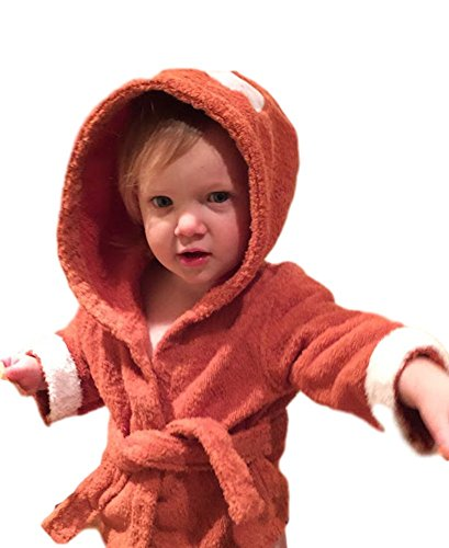 Izzy & Roo Mister Fox Hooded Baby Bathrobe (0-9 Months)