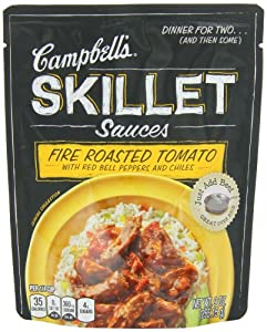 Campbell's Skillet Sauces, Fire Roasted Tomato Red Pepper and Chiles, 9-Ounce Pouch