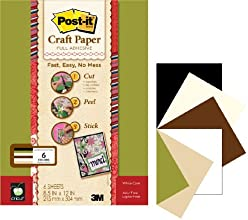 Post-it 8-12 by 12-Inch Craft Paper Earth Tones 6-SheetPack