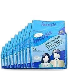 Incofit Adult Diapers (Premium)-Extra Large Pack of 100