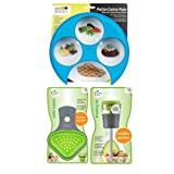 Meal Measure 1 Portion Control Tool Color Blue, Jokari Healthy Steps Portion Control Dressing Lid & Pasta Basket