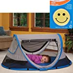 KidCo PeaPod Plus Portable Travel Bed - Twilight with Happy Face Night Light
