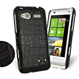Femeto Brown Croc Skin Back Cover Case for HTC Radar HTC Radar Case Cover