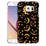 Samsung Galaxy S6 Case, Slim Snap On Cover Halloween Jack-o-Lantern Pattern Case
