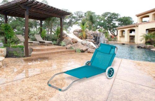 strandliege mit rollen klappbar strandrolli schwimmbadliege rollliege aqua ean. Black Bedroom Furniture Sets. Home Design Ideas