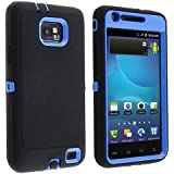 Insten® Hybrid Case Compatible with Samsung© Galaxy S II AT&T i777, Blue / Black