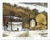 SMART ART - 'Rural Winter' by Miguel Dominguez - Fine Art Print 34x28 inches