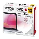 TDK データ用DVD-R 4.7GB 1-16倍速対応 ホワイトワイドプリンタブル 10枚パック 5mmスリムケース DR47PWC10UE