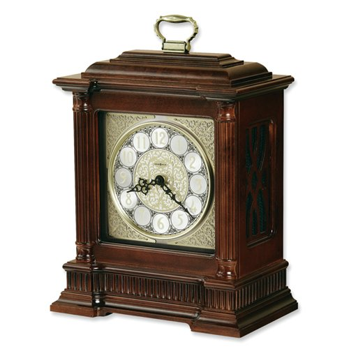 Akron Cherry Finish Quartz Mantle Clock