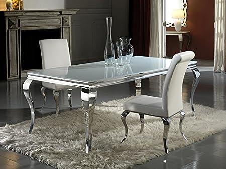 Mesas de Comedor de Acero y Cristal : Colección BARROQUE