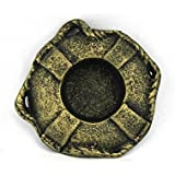 Handcrafted Decor K 0445 Gold Antique Gold Cast Iron Lifering Decorative Tealight Holder, 4 In.