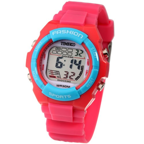 Time100 Kids Digital Timing Multifunctional Watermelon Red Strap ...
