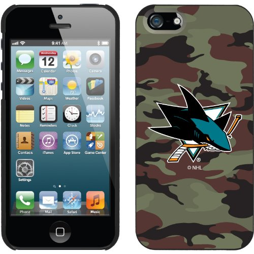 Great Sale San Jose Sharks« Traditional Camo design on a Black iPhone 5s / 5 Thinshield Snap-On Case by Coveroo