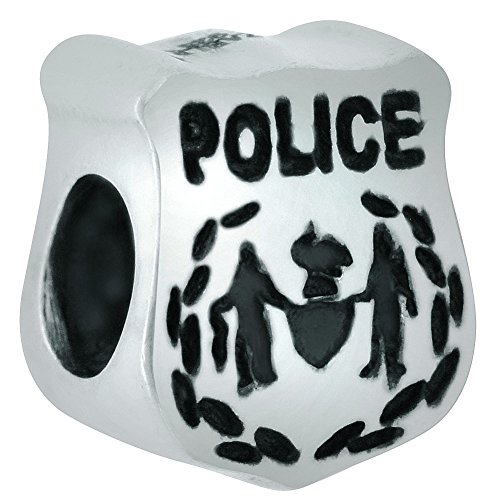 Zable Sterling Silver Police Badge Bead