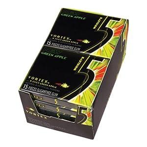 Wrigley's- 5 Vortex Gum, 10/15 Piece Packs Green Apple
