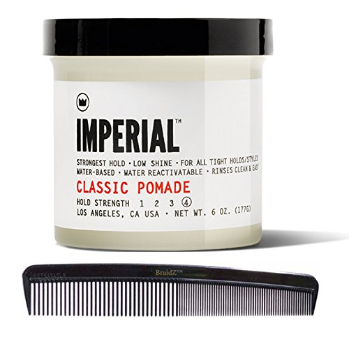Imperial Barber Products Classic Pomade 6oz with BraidZ Comb