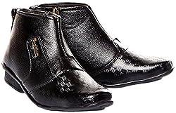 Trilokani Good Premium Quality Comfortable Daily Formal Wear Long Black Shoes for kids Boys