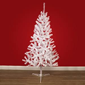 7ft Artificial White Canadian Pine Christmas Xmas Tree 210cm