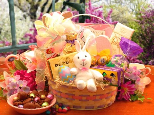 Easter Bunny Deluxe Children's Easter Basket The Gift Basket Gallery B007OWQUEM