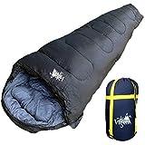 丸洗いOK White Seek 寝袋 シュラフ マミー型 耐寒温度 -15℃ コンパクト収納 オールシーズン