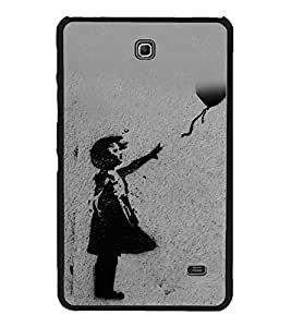 Child with a Balloon 2D Hard Polycarbonate Designer Back Case Cover for Samsung Galaxy Tab 4 :: Samsung Galaxy Tab 4 T231