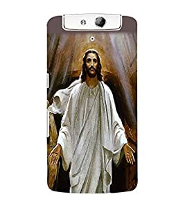 ColourCraft Lord Jesus Back Case Cover for OPPO N1