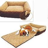 ペットベッド ラムウール ソファ 暖か 大型 ベッド ペット 中、大型 犬用 クッション 洗濯可能