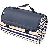 Yodo Picnic Waterproof Outdoor Camping Blanket Tote Rugs, Summer Stripe
