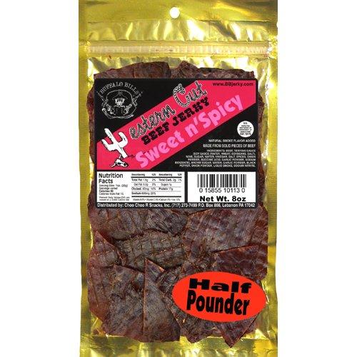 Buffalo Bills 8oz Sweet n' Spicy Western Cut Beef Jerky Pack (brown sugar and black pepper jerky)