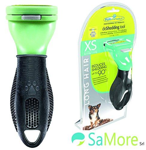 FURminator XS pettine spazzola cani di max 4,5 kg pelo lungo superiore ai 5 cm