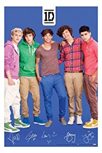 One Direction Blue Poster from Hot Topic