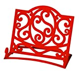 Premier Housewares Cast Iron Cookbook Stand - Red