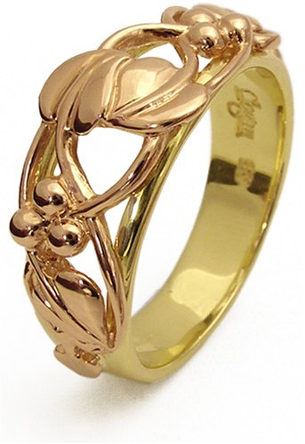Clogau 9ct Yellow & Rose Gold TLR Unisex Tree of Life Ring