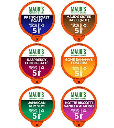 Maud's Gourmet Coffee Pods, Flavored Collection, 100 Single Serve Coffee Pods