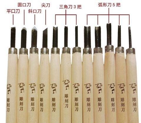 小学生でも安心! 彫刻刀12本セット 図工・工作・美術・趣味用としても使えます