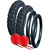QUINNY BUZZ PUNCTURE PROTECTED TYRE AND TUBE SET OFF ROAD TREAD PATTERN