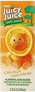 Juicy Juice 100% Juice, Orange Tangerine, 8-Count/6.75-Ounce Boxes (Pack of 4)