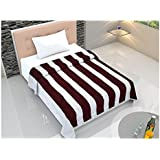 "Linenwalas 300 TC 100% Premium Cotton Double Color Mix King Size Dohar Ac/Comforter - 90""x100""- Maroon & White"