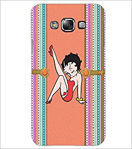 PrintDhaba Funny Image D-4023 Back Case Cover for SAMSUNG GALAXY E7 (Multi-Coloured)