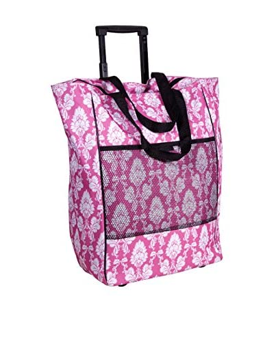 Home Essentials and Beyond Roll Tote Bag Emma White/Pink