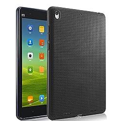 Premium Dotted Flexible Silicone Back Skin Case / Cover for Xiaomi Mi Pad - Black