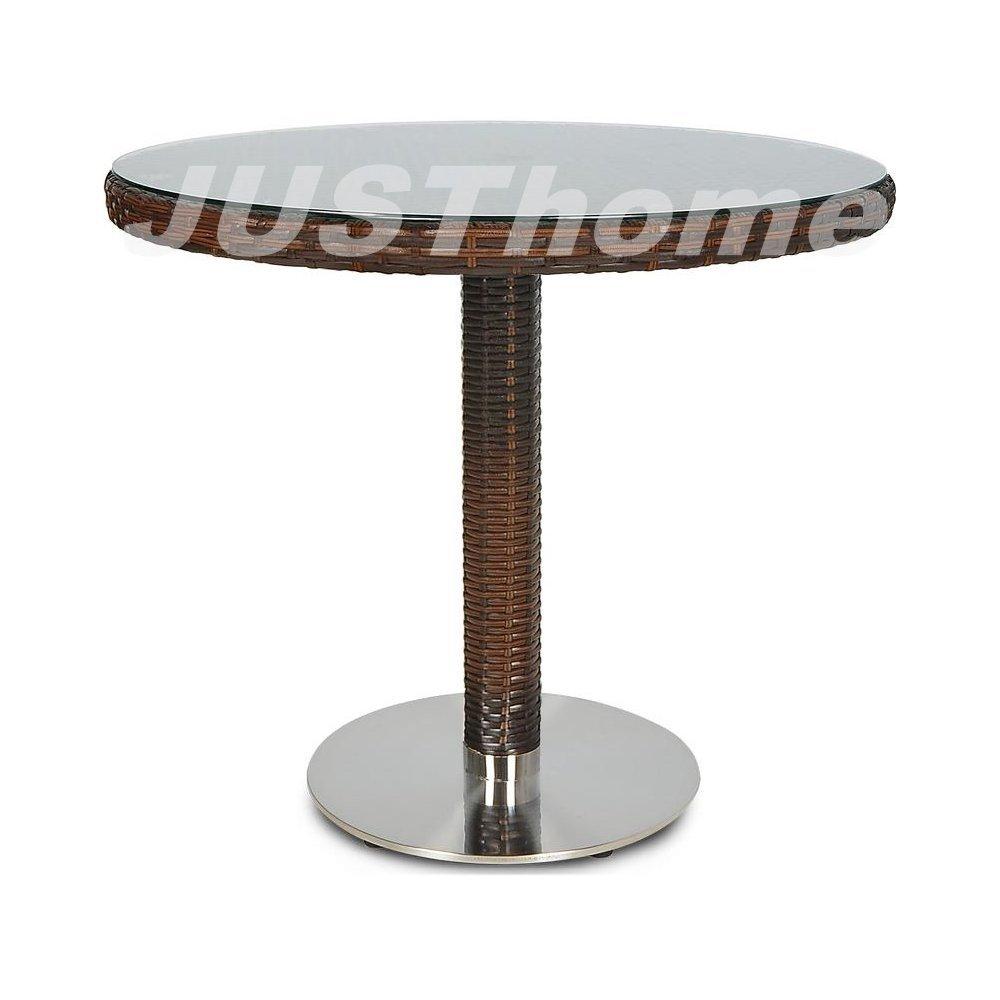 JUSThome Gartentisch Glastisch Bistrotisch Polina / Merano fi80 (DxH): 80×74 cm Braun günstig kaufen