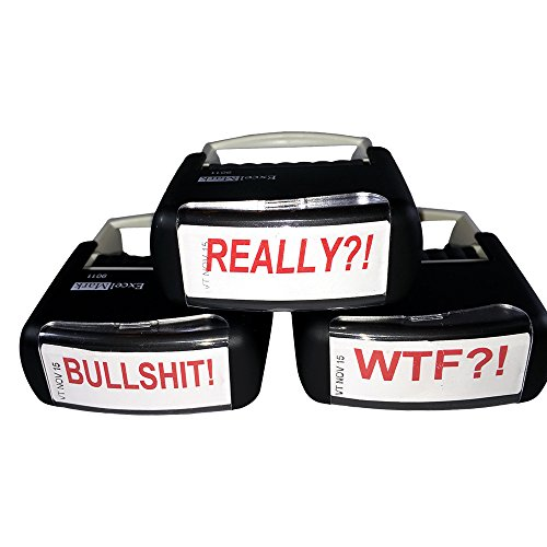 WTF?! REALLY?! and BULLSHIT! Self inking red ink 3 - rubber stamp bundle