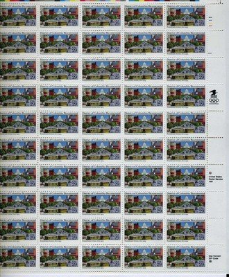 District of Columbia Bicentennial Full Sheet of 50 x 29 Cent US Postage Stamps