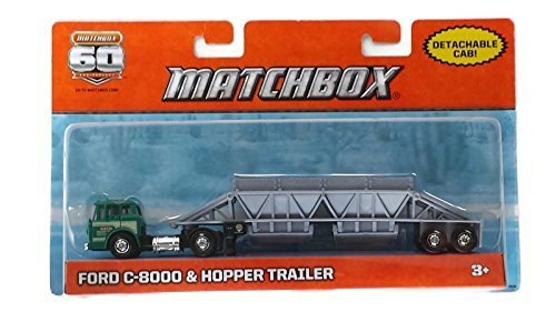 Matchbox 60th Anniversary Die Cast Ford C-8000 & Hopper Trailer-Detachable Cab - 1