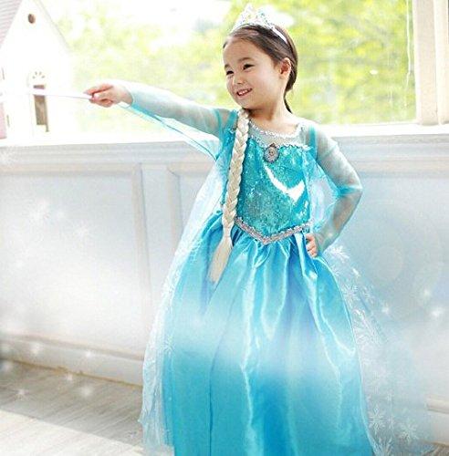 アナと雪の女王 エルサ ドレス 子供用Sサイズ 4点セット