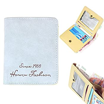 1. Towallmark(TM)Retro Pumping Buckle Matte Leather Women's Short Wallet Card Purse